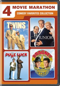 4-Movie Marathon: Comedy Favorites Collection (Twins / Junior / Pure Luck / Dragnet) [DVD]