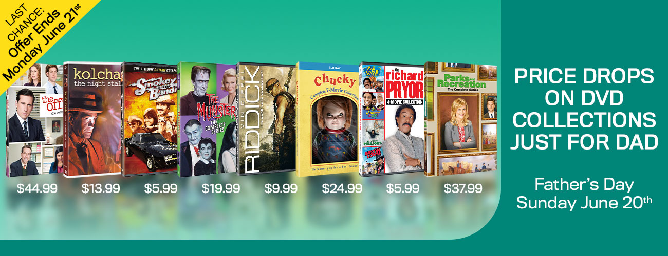 1300x500 New Fathers Day Price Drops on DVD Collections