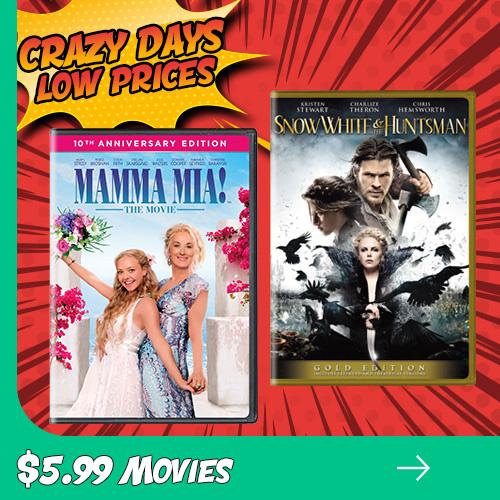 Crazy Days $5.99 Movies