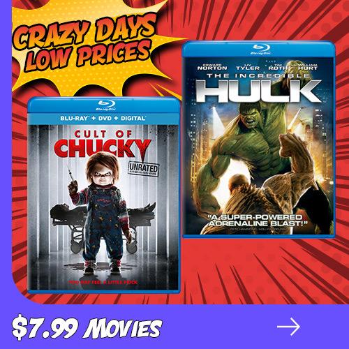 Crazy Days Crazy Prices - $7.99 Movies