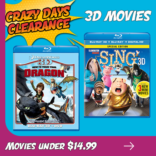 Crazy Days Clearance - 3D Movies