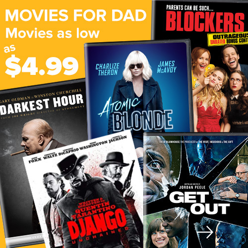 Movies For Dad From $4.99