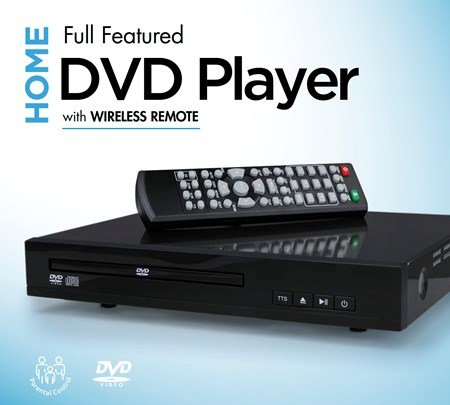 Home DVD Player with Wireless Remote [Hardware]